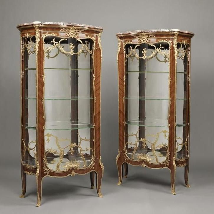 Louis XV Style Vitrines - François LINKE - Bookcase - Showcase ...