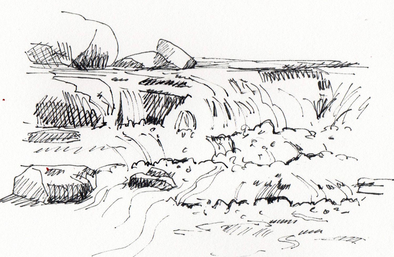 Sketching water by sophie peanut bronte waterfalls