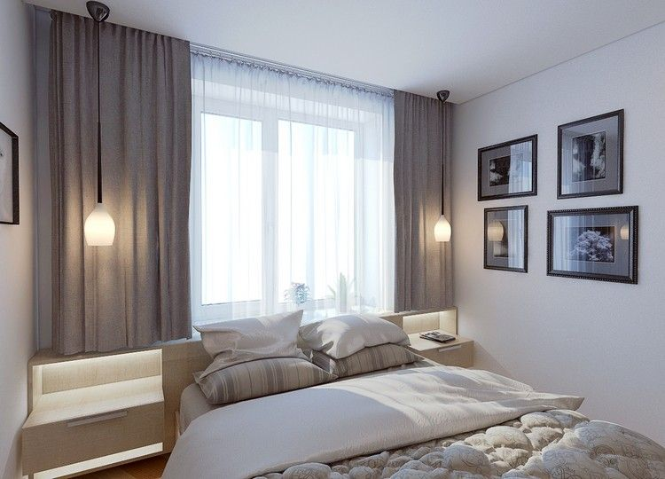 neutrale Farben und gute Beleuchtung im kleinen Raum Master - welche farbe für das schlafzimmer