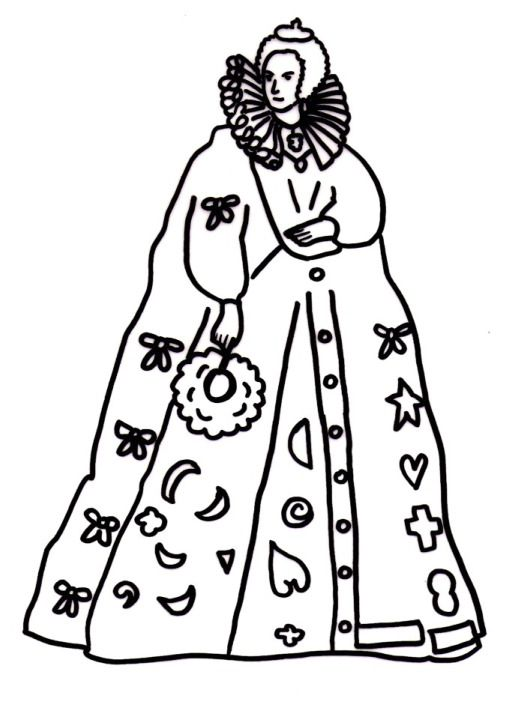 Coloring page that could serve as a cute pattern