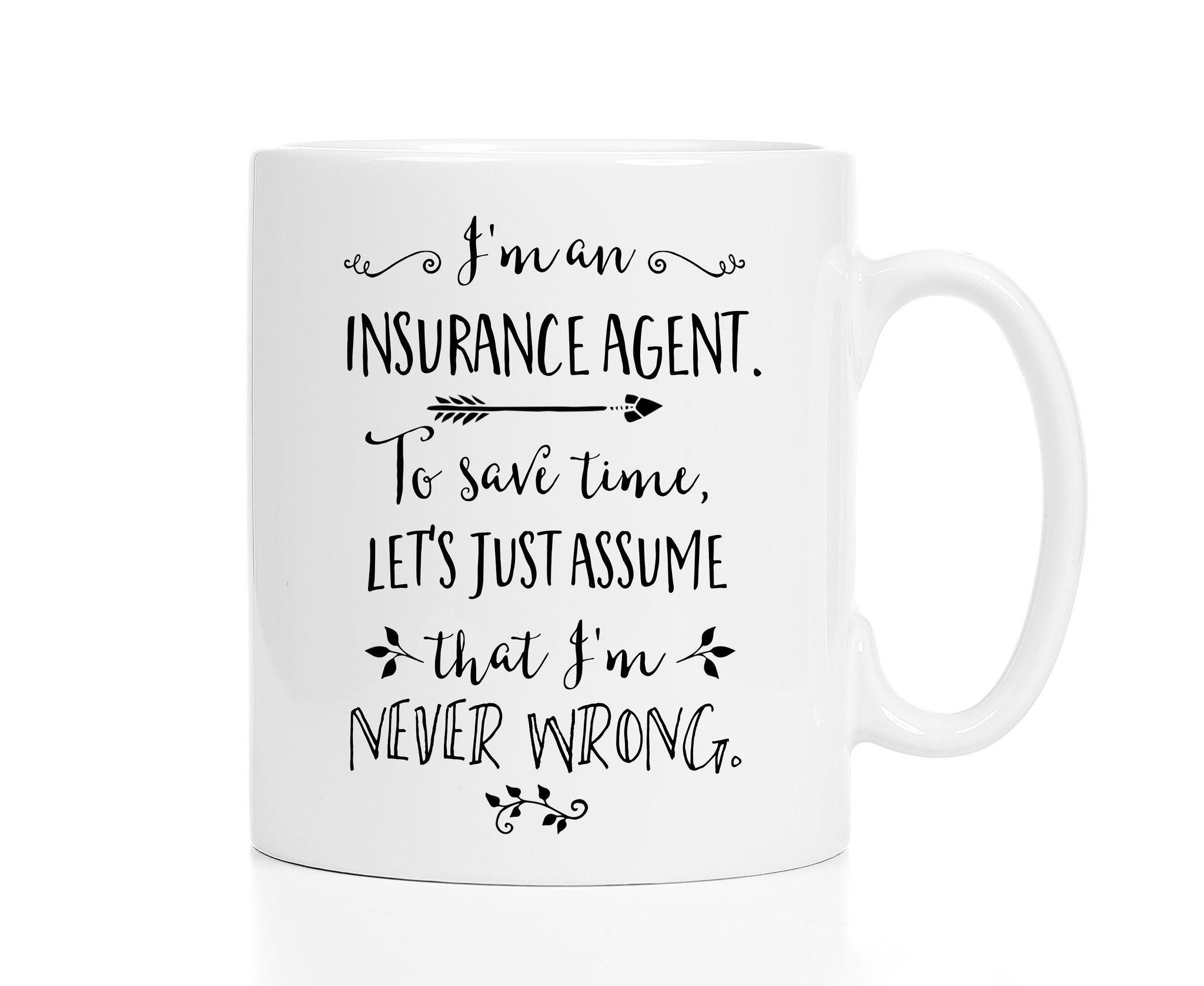 Insurance agent mug insurance agent life insurance