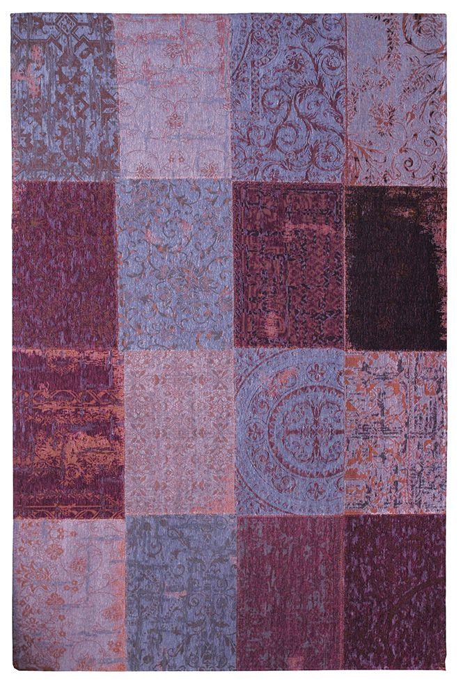Vintage-Teppich Beere Waldbeere Patchwork | - Kunst für den Boden ...