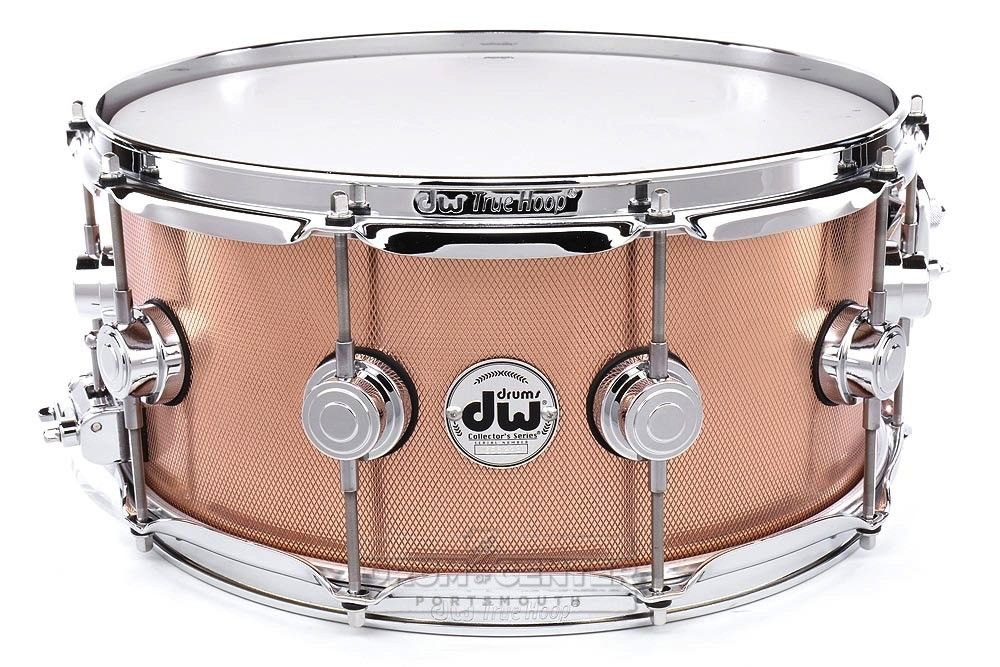 DW Collectors Copper Snare Drum 14x6.5 Knurled w/ Chrome Hw