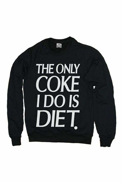 The only coke I do is diet.