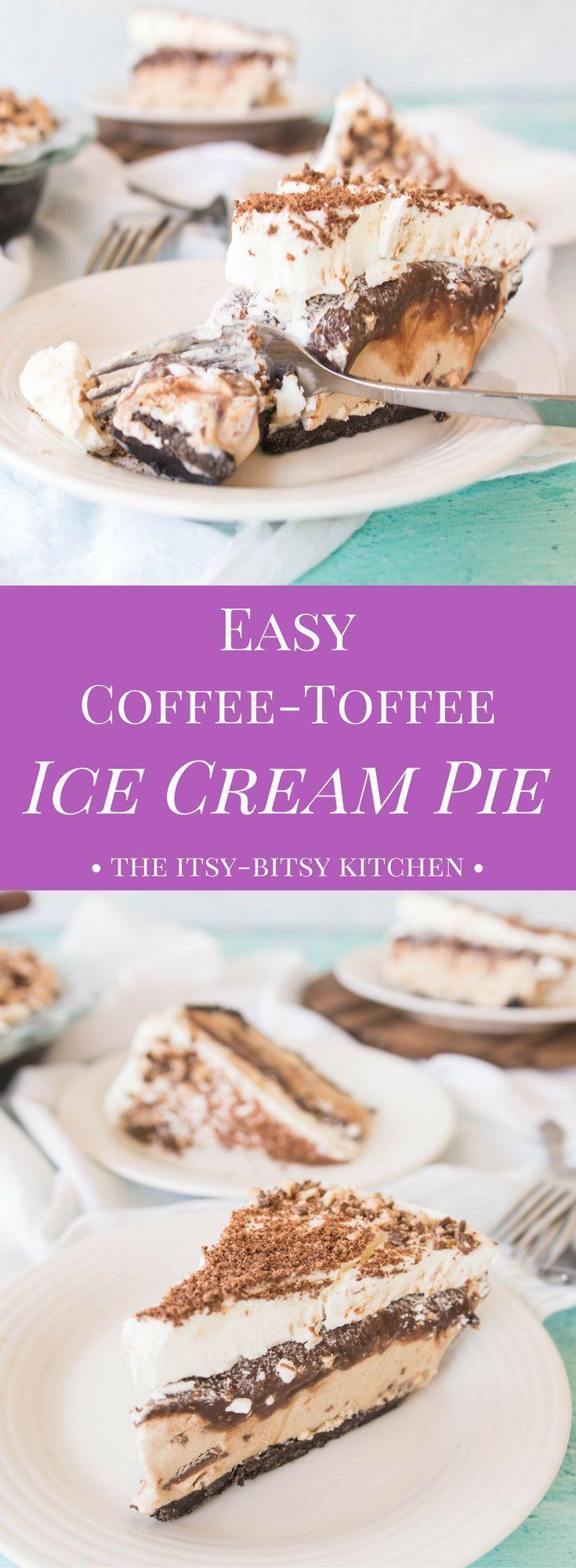 Easy coffeetoffee ice cream pie recipe cream pie