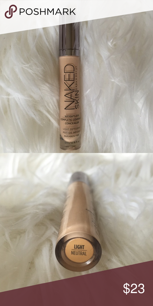 Urban decay naked weightless concealer light Used once and was the wrong shade of this naked weightless complete coverage concealer. In shade light neutral. Urban Decay Makeup Concealer
