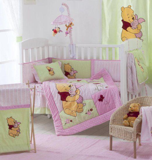 Amazon.com: Pink Winnie the Pooh Crib Bedding Collection 4 ...