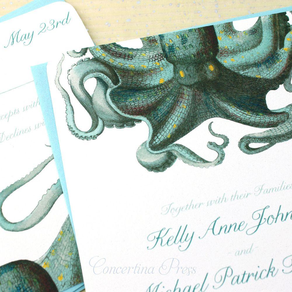 Octopus Wedding Invitations | Pinterest | Weddings, Wedding and Geek ...