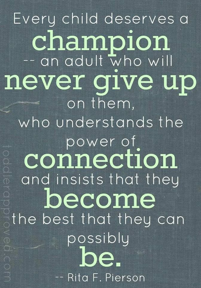 Never give up in them!
