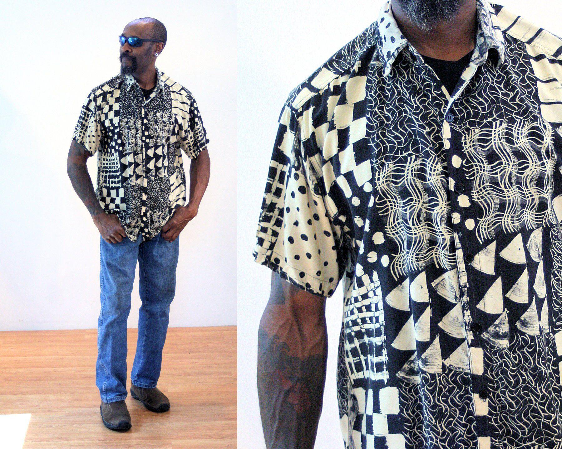 Surfside Supply Company Mens Short Sleeve Palm Tree Print Woven