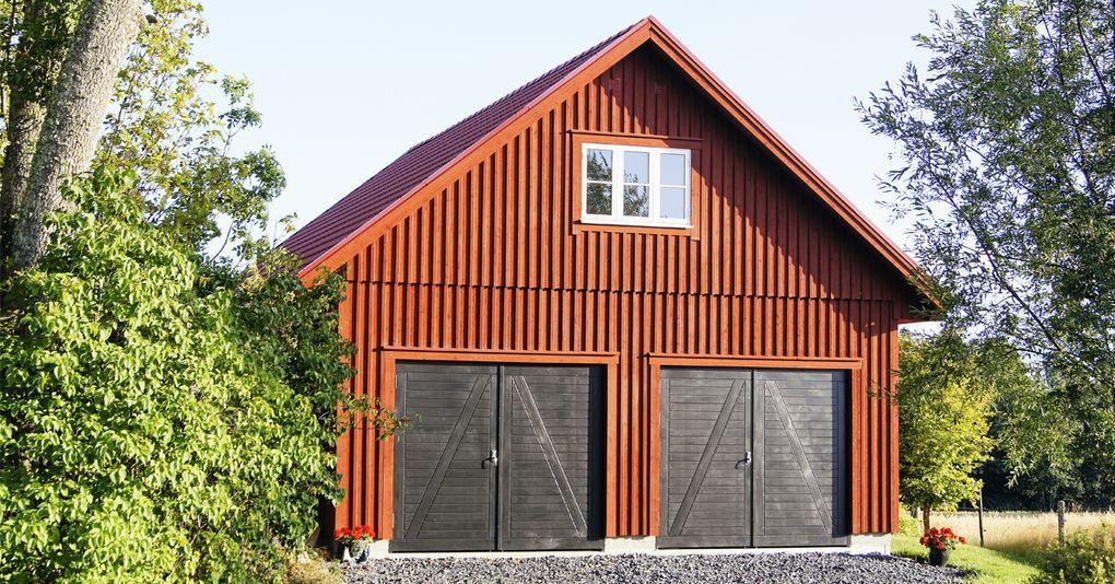 6 Steg Till Nytt Garage Dromgarage Bondgardsstil Ladugardsdorr