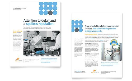 Janitorial Office Cleaning Datasheet Illustrator Template by – Cleaning Brochure Template