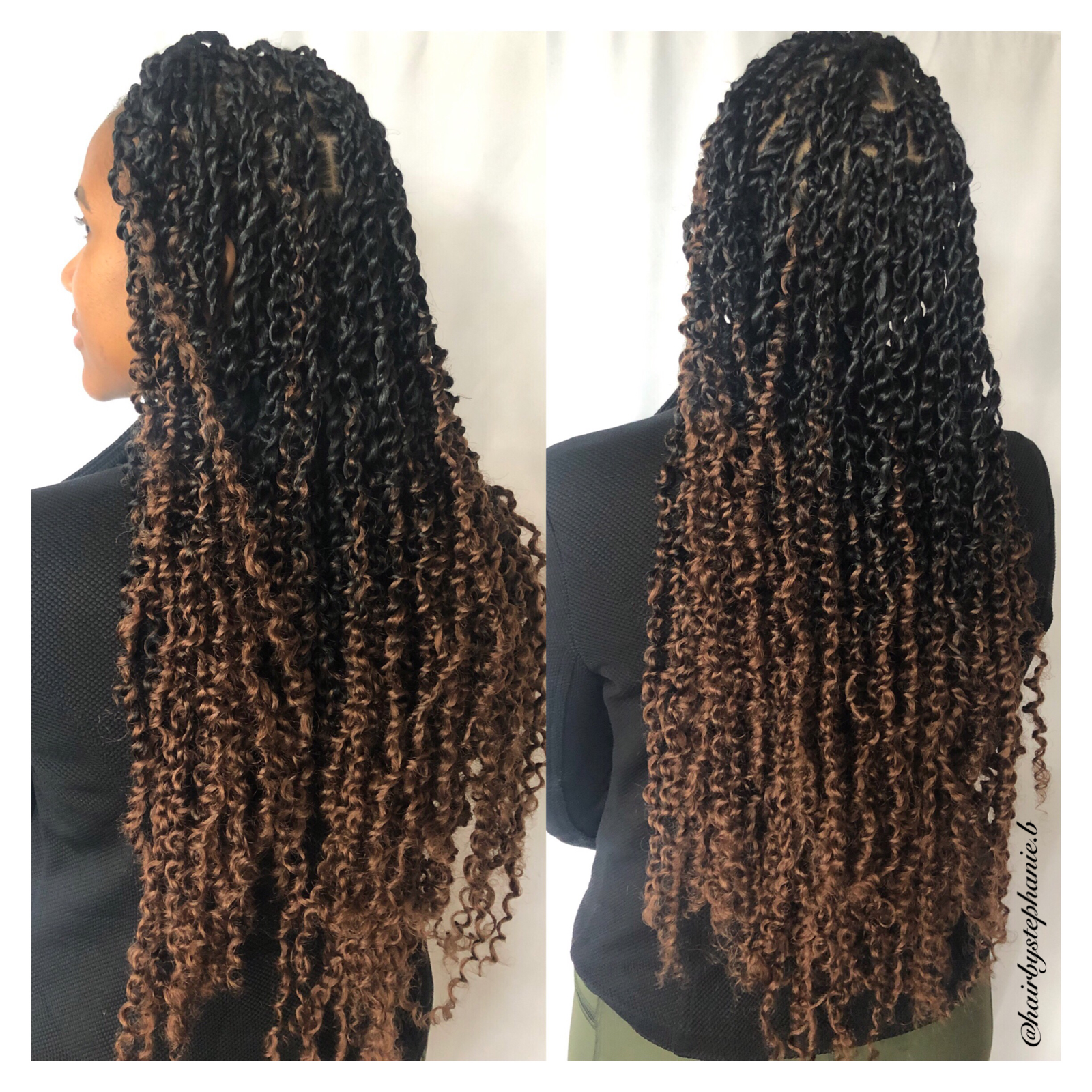 Ombré passion twists by @hairbystephanie.b @stephanieb.style #passiontwists  #freetresshair #protectivestyles  #blackhairstyles  #twists  #LAbraider  #LAstylist #passiontwistshairstyle