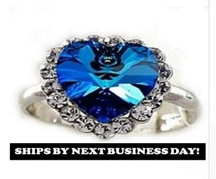 Blue Heart Adjustable Ring. Starting at $1