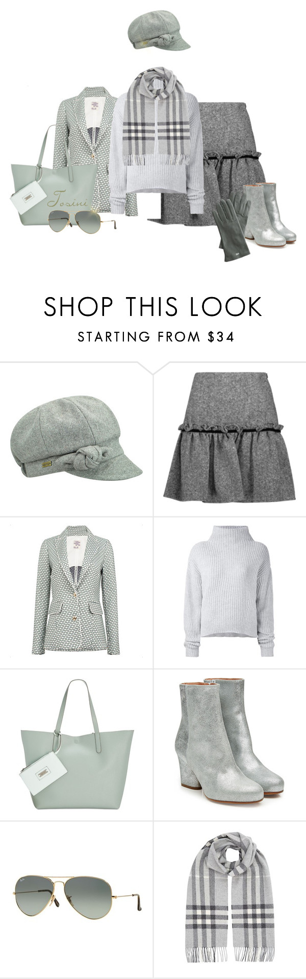 """""""Minty Winter"""" by tosini ❤ liked on Polyvore featuring Betmar, Raoul, Baum und Pferdgarten, Le Kasha, Style & Co., Maison Margiela, Ray-Ban, Burberry, Mark & Graham and Winter"""