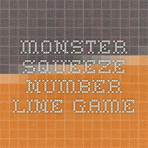 monster squeeze number line game
