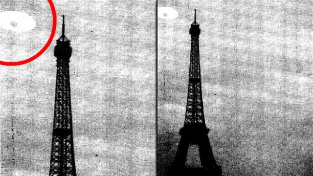 CIA RELEASES AMAZING TOP SECRET PHOTOGRAPH SHOWING UFOS ABOVE EIFFEL TOWER!