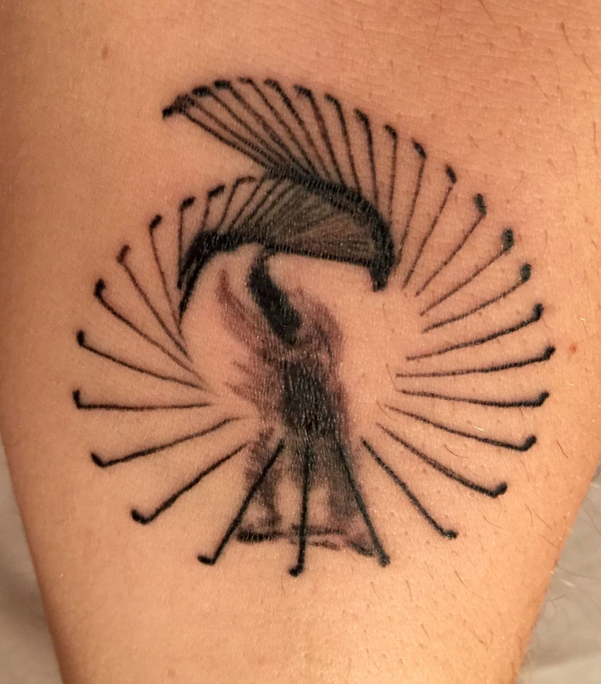 My new golf tattoo. The perfect swing. Golf tattoo