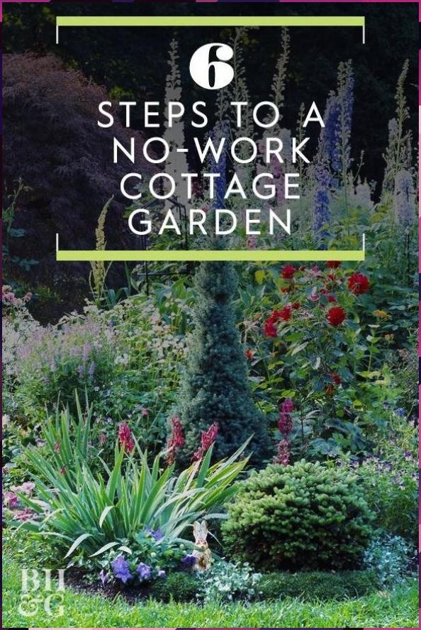 6 Steps to a No-Work Cottage Garden #cottage #Dream Garden #English Garden #Garden #Garden Decoration #Garden Furniture #Garden House #Garden Paths #Garden Projects #Garden Tips #Garden Wedding #Home Garden #Indoor Garden #Modern Garden #NoWork #Steps