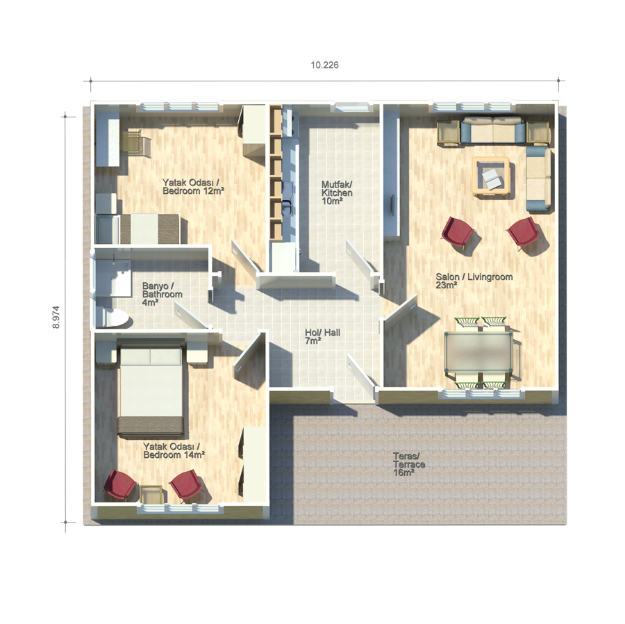 begonya 76m2 floor plans kit homes pinterest house