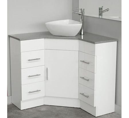 Corner Vanity With Caesarstone Top 600mm X 600mm Corner Bathroom Vanity Corner Sink Bathroom Bathroom Sink Cabinets