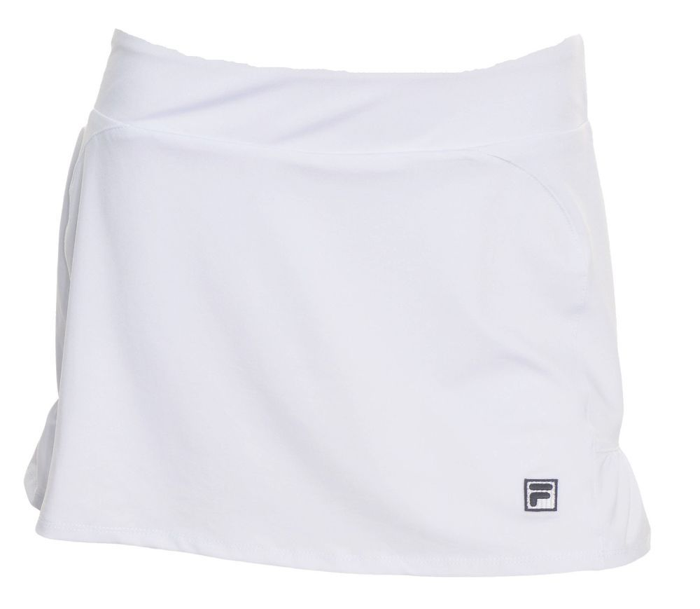 Fila womens athletic skort tennis skirt ruffled medium shorts white