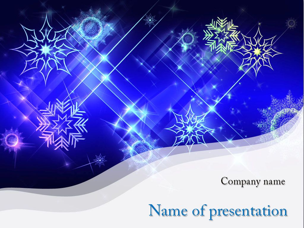 cold snowflakes powerpoint template templates pinterest