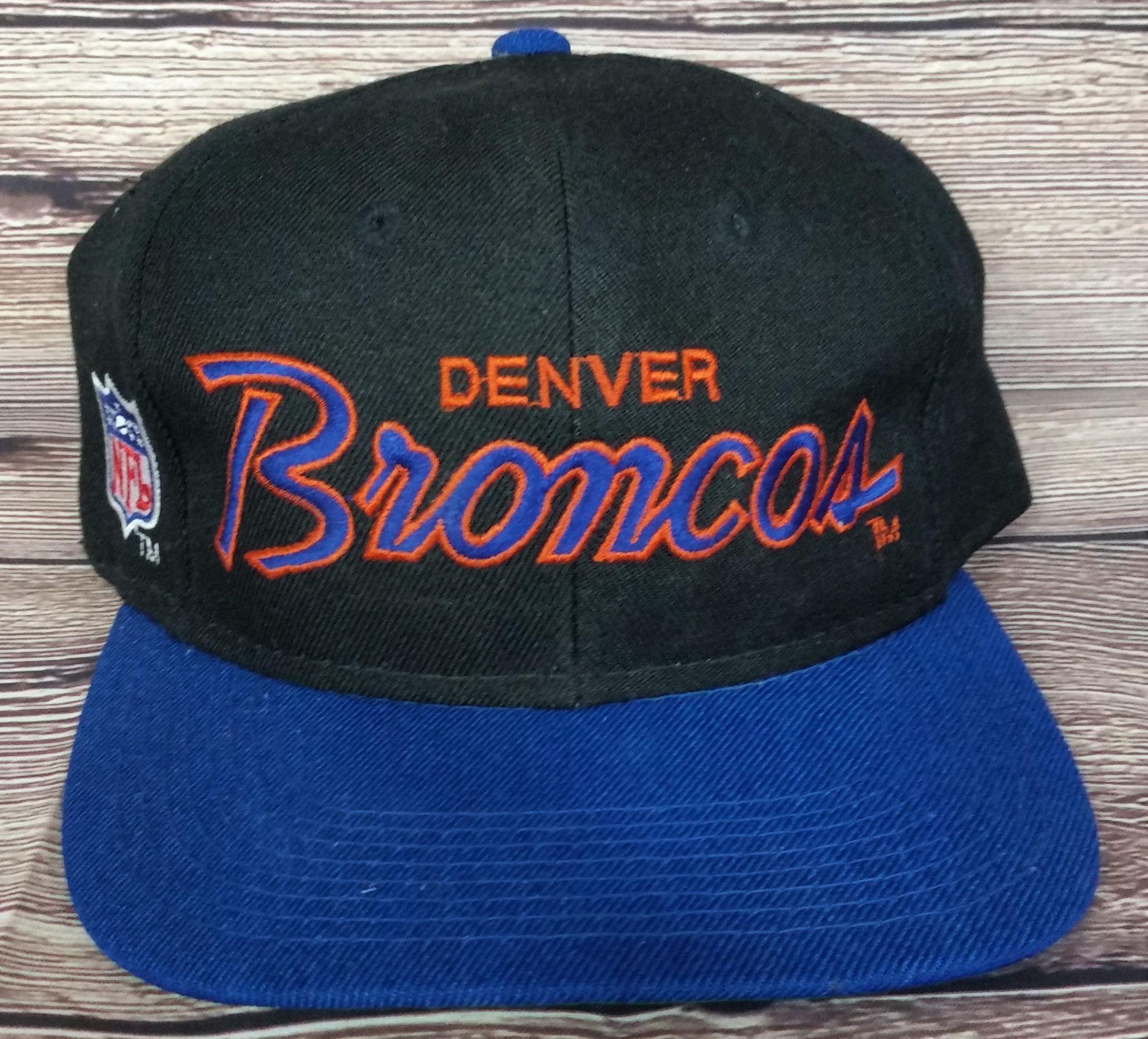 cd942810a81 Denver Broncos Vintage Snapback Sports Specialties Script Hat Rare NFL Cap