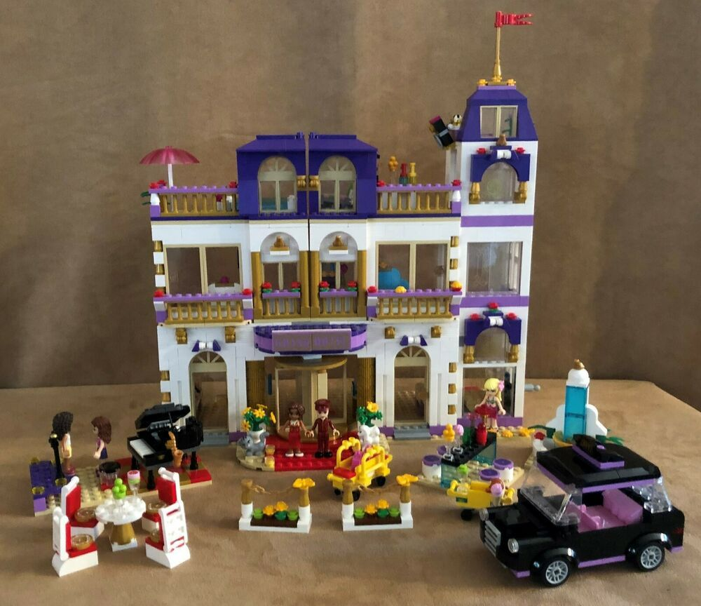 41101 Lego Complete Friends Heartlake Grand Hotel Retired Building Minifigures Lego Lego Friends Grand Hotel Lego