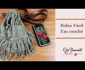 Bolsa em crochê Passo a Passo – Amo Fazer Crochê