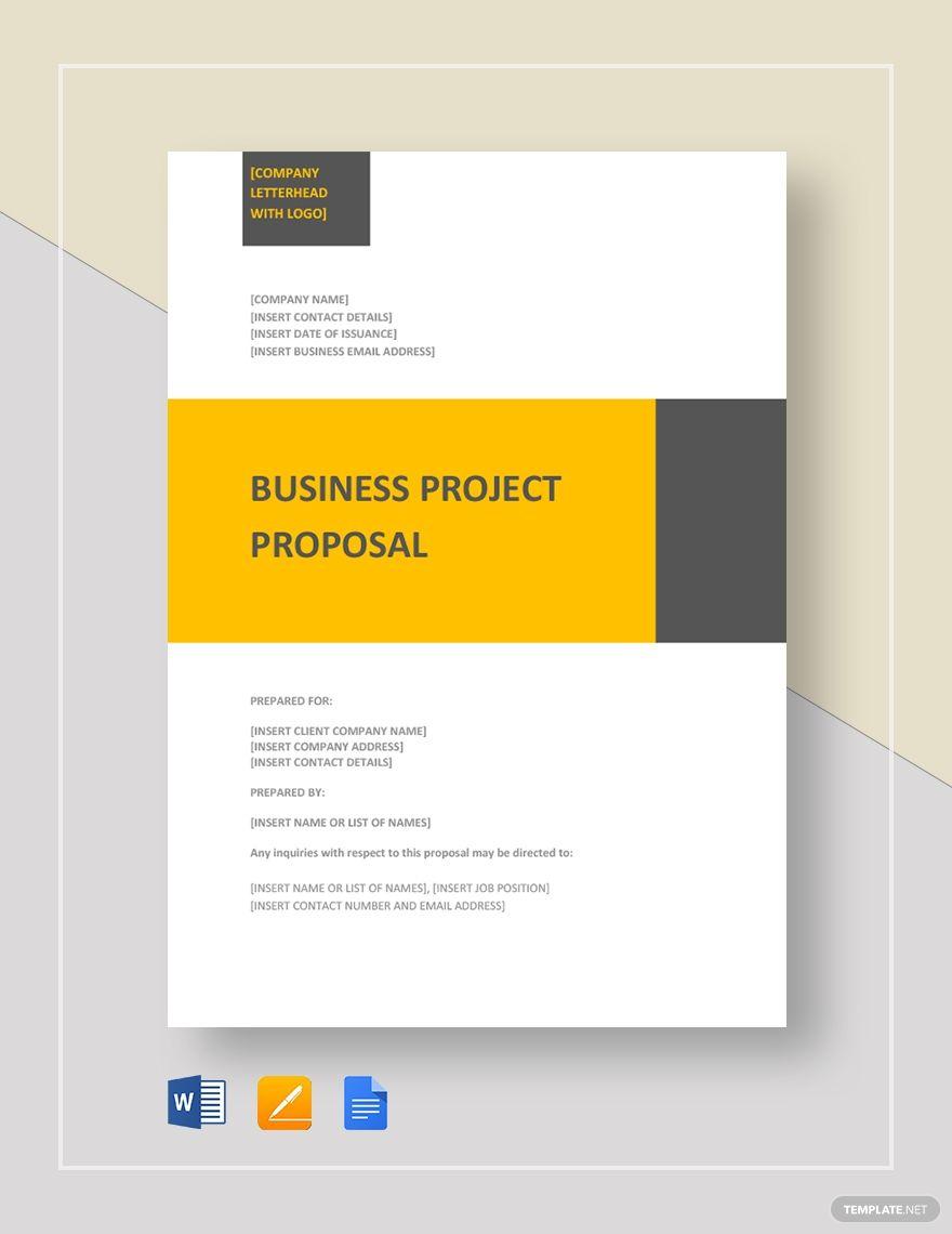 Business Project Proposal Template Word Doc Apple Mac Pages Google Docs L Pdf Business Proposal Template Proposal Templates Project Proposal Template
