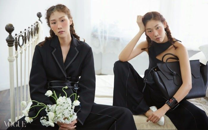 """Girls in a Garret"" Models in Celine for Vogue Korea March 2015"
