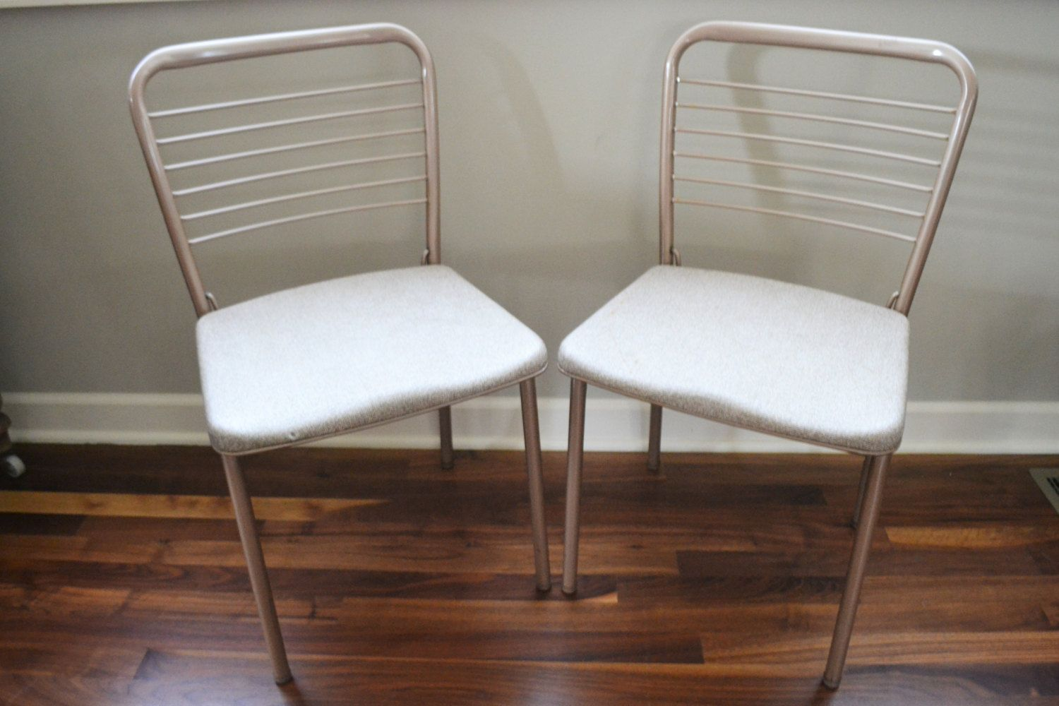 Set Of Retro Folding Chairs Vintage Cosco Chairs Mid Century - Mid century modern card table