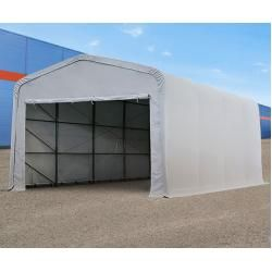 Photo of Zeltgarage 5×8 m mit 4,1×2,5 m Tor, Pvc 550 g/m² grau | ohne Statik Garagenzelt Toolport