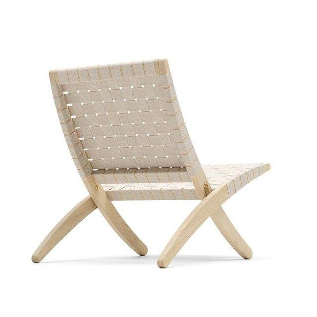 Carl Hansen Mg501 Cuba Chair Klappbar Mit Baumwollgurten Sessel Stuhl Design Modernes Mobeldesign