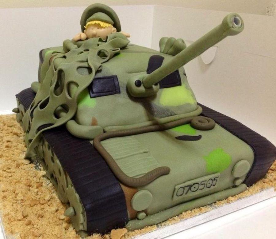 Strange Army Tank Birthday Cake Army Birthday Cakes Tank Cake Army Funny Birthday Cards Online Elaedamsfinfo