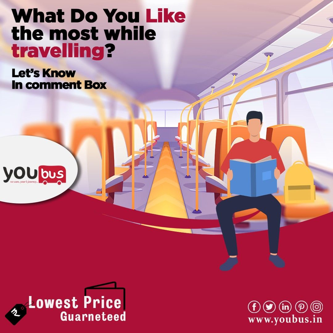 What is your favourite way of time pass in Bus while traveling? Comment below. Follow us on social media : www.youbus.in #onlinebusticket #youbus #bookbusticket #bhubaneswar #odisha #onlineservice #bustravel #busservice