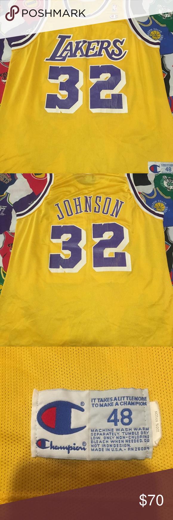 Vintage Champion Lakers Magic Johnson Jersey Vintage Champion Champion Shirts Magic Johnson