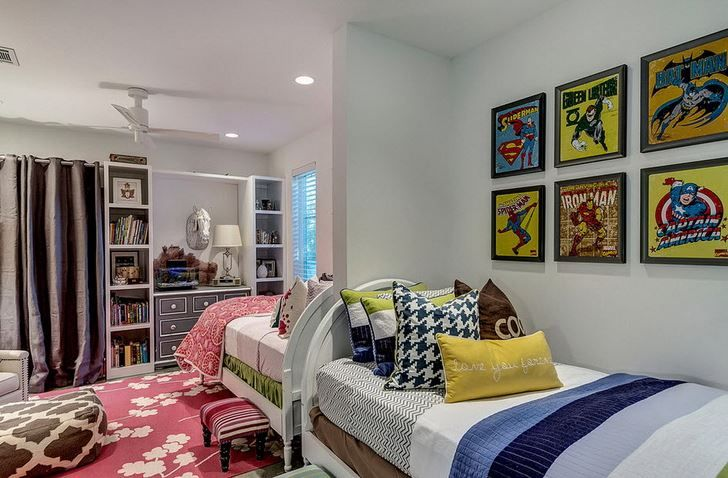 Coed Shared Bedroom For Siblings Girl Room Boy And Girl Shared