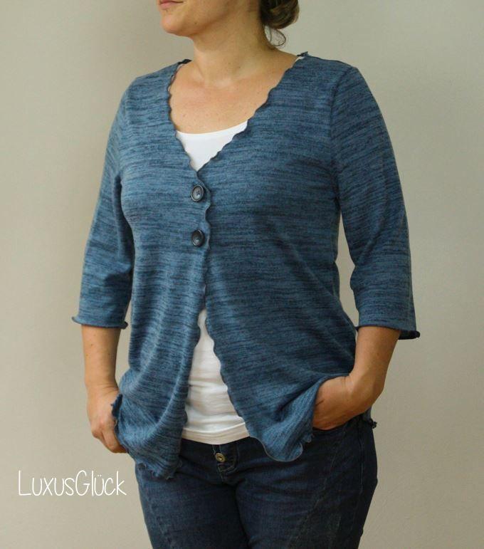Schnittmuster / Ebook lillesol women No.11 Cardigan / Nähen Strickjacke / Sewing pattern Cardigan