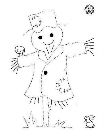 Mi Coleccion De Dibujos Espantapajaros Infantiles Para Colorear Grafomotricidad Espantapajaros Actividades