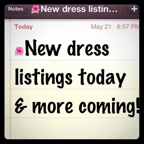 "Selling this ""Check out new dress listings in my closet!"" in my Poshmark closet! My username is: edithjones. #shopmycloset #poshmark #fashion #shopping #style #forsale #Dresses & Skirts"