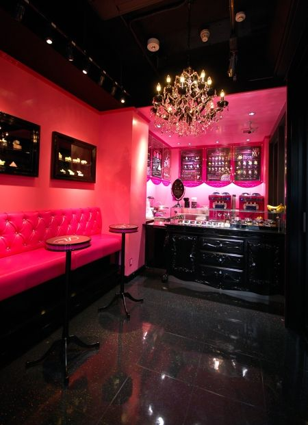 Girly bar want this in my basement basements entertaining areas pinterest basements - Man caves chick sheds mutual needs ...