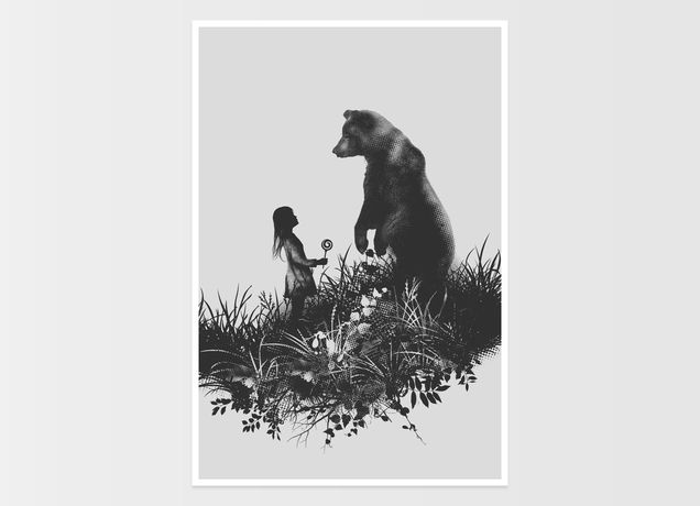"""The Bear Encounter"" - Threadless.com - Best t-shirts in the world"