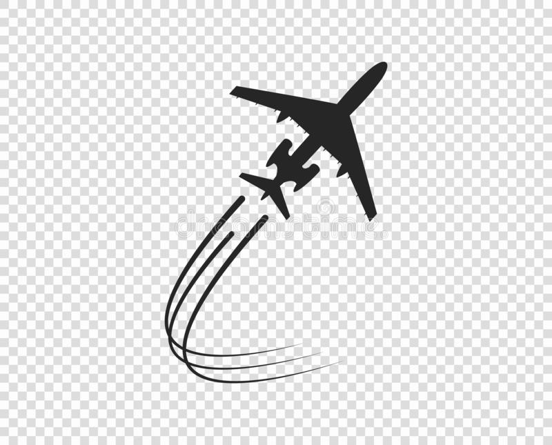 Plane Trail Stock Illustrations 1 805 Colorful Clouds Cartoon Airplane Airplane Silhouette