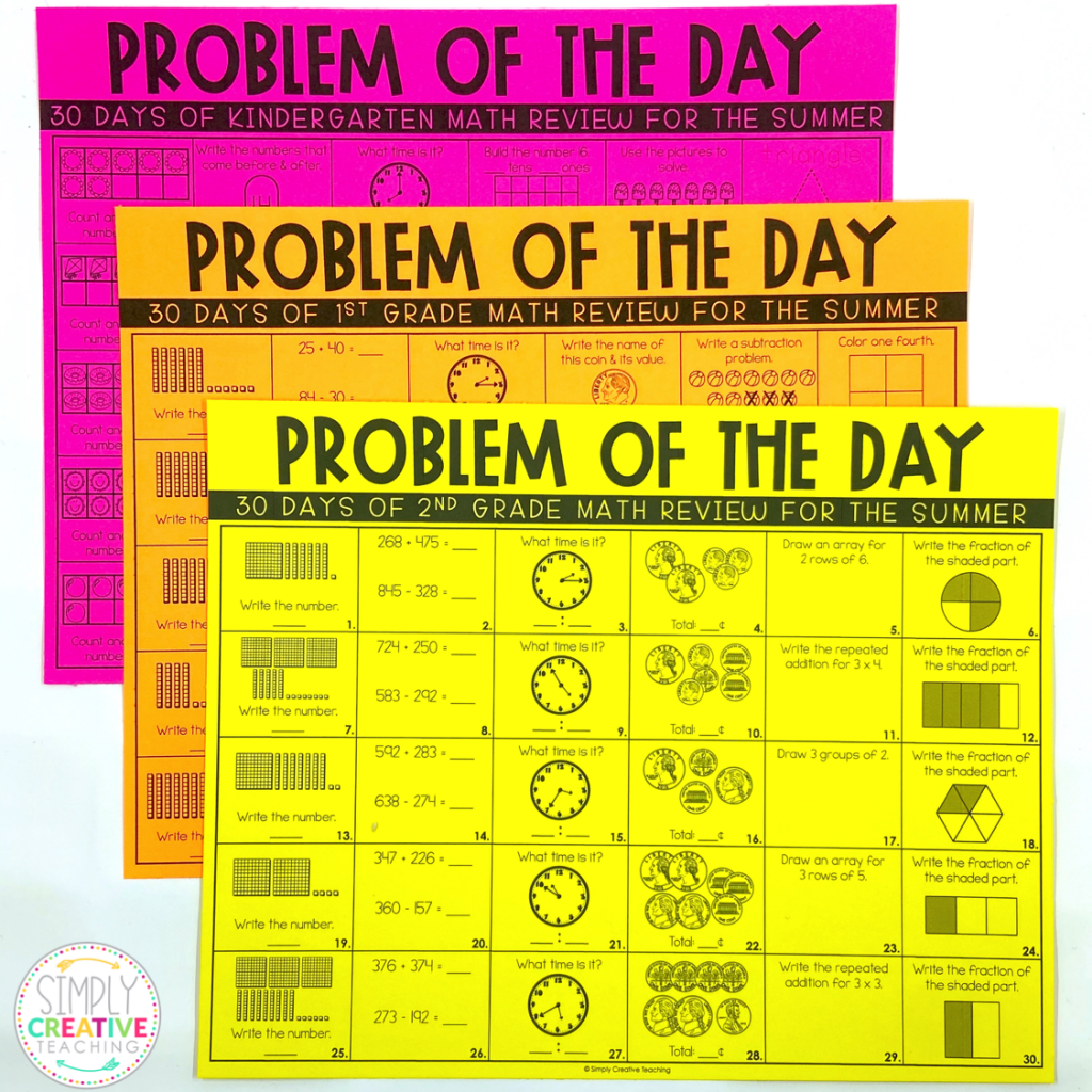 Download This Free Summer Math Review Worksheets For