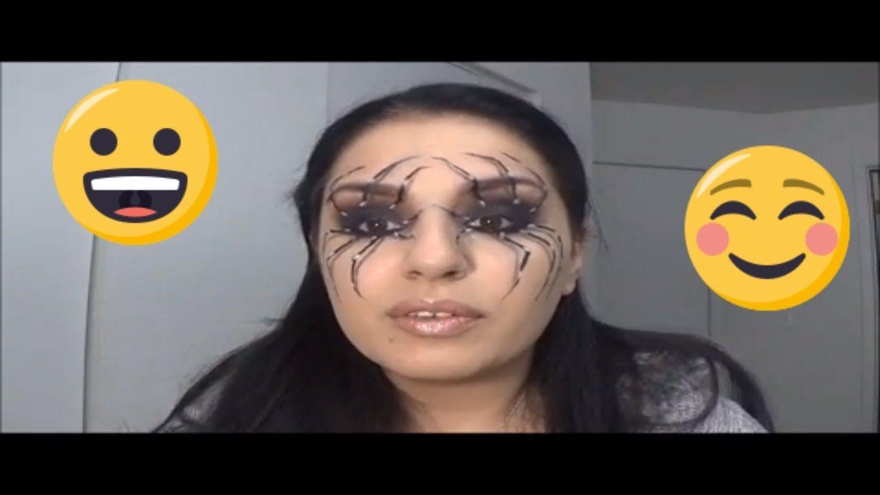 مكياج العنكبوت للهالوين Review Halloween Face Makeup Face Makeup Makeup