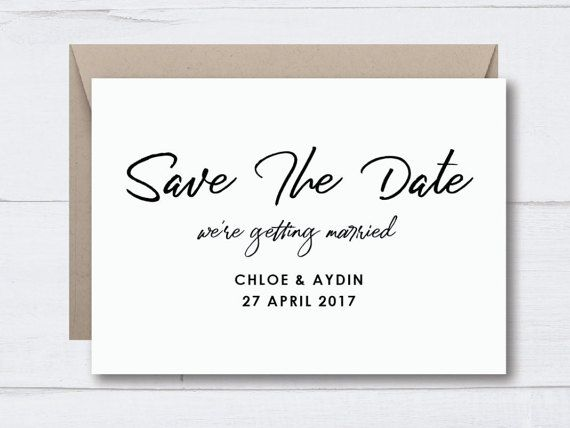 SAVE THE DATE Wedding / Engagement Invitations  Typography