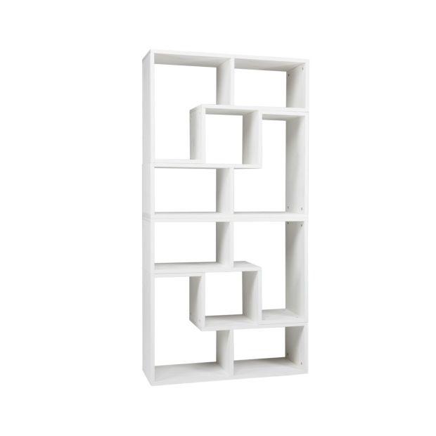 AuBergewohnlich Woood Tetris Stapelkast/Roomdivider Set Van 4 Elementen   Geborsteld Wit    Afbeelding 1