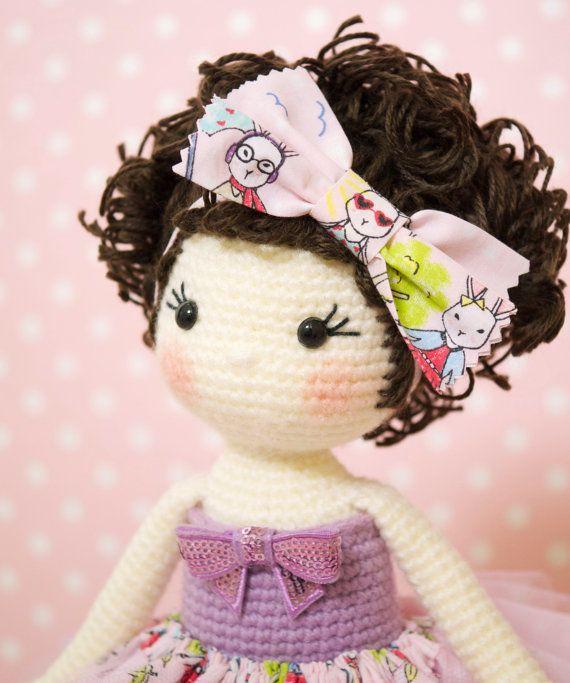 Amigurumi crochet doll - Gorgeous ballerina doll in a pink tutu ...